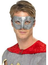 Silver Fancy Warrior Columbina Mask Smiffys Masquerade Mask With Ties