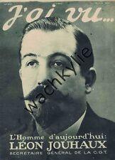 J'ai vu 207 14/06/1919 Jouhaux CGT Jockey club Indochine grève Autriche