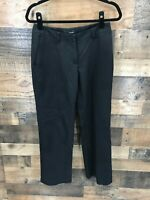 Oobe Women's Black Flat Front 100% Polyester Trouser Pants Size 2 - 29