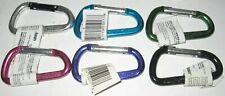 Six Bright Aluminum Carabiner Spring Link D Ring Clip Keychain Lehigh New
