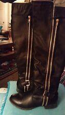 Ladies Dk Brown Tall Boots Sz9