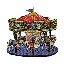 ID 1001 Carousel Horse Carnival Fair Ride Merry-Go-Round Iron On Applique Patch