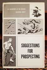 Suggestions For Prospecting PB 1969 US Dept Of Interior Geological Survey Gold