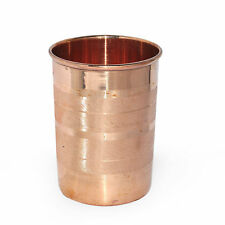 Traditional Indian Copper Water Glass Ayurveda Handmade Drinking Tumbler 1 Pcs