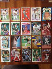 Mark McGwire baseball 20 card lot. Topps Rookie, Ultra, Stadium Club, Upper Deck