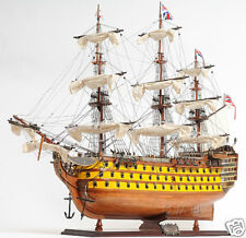 "HMS Victory Painted Wood Tall Ship Model 37"" British Royal Navy 1774"