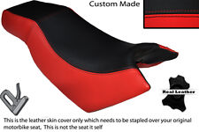 RED & BLACK CUSTOM FITS KYMCO CK PULSAR 125 OLD SHAPE DUAL LEATHER SEAT COVER
