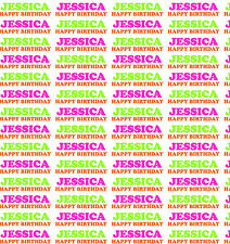 Personalised Gift Wrapping Paper With Own Name Girls Birthday ANG1