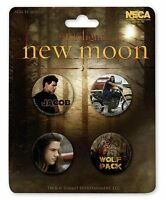 Twilight Jacob Black Taylor Lautner Wolf New Moon 4 Buttons Pins Anstecker NECA
