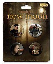 Twilight Jacob Black Taylor Lautner Wolf New Moon 4 Buttons Pins Anstecker NECA