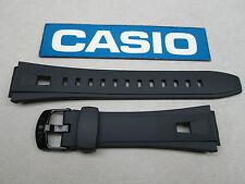 Genuine Casio AQ-190W black resin rubber watch band 18mm lug