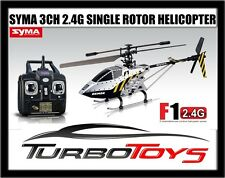 NEW - SYMA F1 3CH 2.4G OUTDOOR HELICOPTER - SINGLE ROTOR - ARMOR -  AUS SELLER