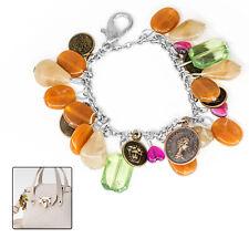 f58707cbbc08 50pzas Charm Llavero Piedras de Cristal Cadenas Metal para Mujer Ornamento  Bolso