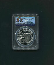 2015 Somalia 100 Shilling Silver Coin Africa Elephant PCGS Graded MS69 Wildlife
