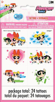 Powerpuff Girls Temporary Tattoos 24 Pack Party Bag Filler BNIP Birthday Loot