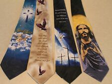 4 Brand New Jesus Christ Religious 100% Polyester Neck Ties Free Shipping #02