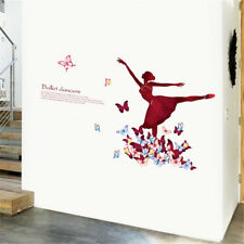 Butterfly Ballet Girl Room Home Decor Removable Wall Sticker Decal Decoration