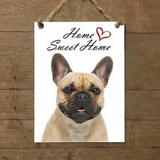 BULLDOG FRANCESE Home Sweet home mod5 Targa CANE piastrella ceramic tile dog