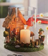 Windlicht Wichtelhausen Wichtel Deko Kerzenhalter Dekoration Windlicht NEU