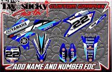 YAMAHA YZ  YZF 125/150/250/450  MOTOCROSS MX GRAPHICS STICKERS 2016-2017