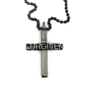 Cross Forgiven Special Gunmetal Finish Color And Ball Chain (tsfgnbc) USA