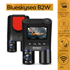 B2W Dual Lens Front + Inside Hd 1080P 30Fps 132° Night Vision Wifi 2Ch Dash Cam