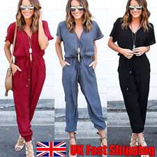 Women Chiffon Short Sleeve Clubwear Playsuit Bodycon Prom Jumpsuit Romper Dress