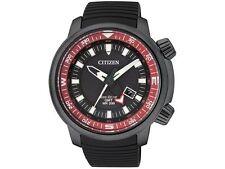 Citizen Men's Black Citizen Eco-Drive GMT Diver's Watch BJ7085-09E No Box