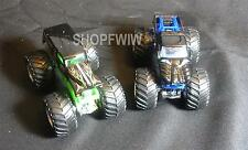 2 Vintage Hot Wheels Diecast Monster Jam Cars Grave Digger And Predator