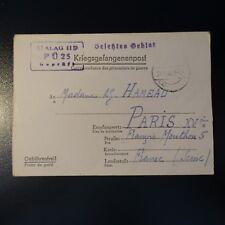 LETTRE PRISONNIER DE GUERRE STALAG II D 28.09.42 KRIEGSGEFANGENENPOST POW