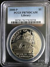 2000 LIBRARY OF CONGRESS Silver $1 PR70 PCGS💥FLAWLESS QUALITY💥