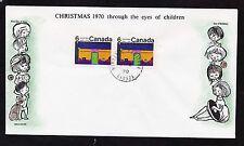 1970  No. 526p horizontal pair Winnipeg tagged unaddressed Cole cachet Christmas