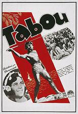 """TABOU (Friedrich W. MURNAU & R. FLAHERTY 1927)"" Diapositive de presse originale"