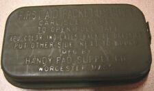 Original WW2 US 1st Aid Carlisle Bandage Field Medical Tin - Minty-NOS
