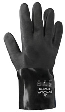 """12 PAIRS-""""BLACK KNIGHT"""" -BEST 7710R- PVC-COATED ROUGH GRIP GLOVES - LARGE - USA"""