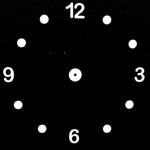 New Ready Spaced self adhesive Clock Dial Transfers Numbers clock Making Design