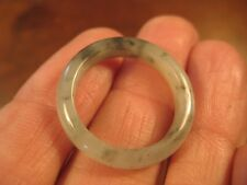Large Natural Grade A  Jadeite Jade ring stone carving  Size 9.5 US  A2042