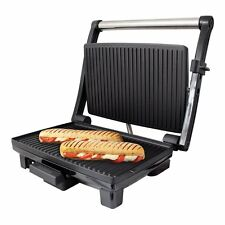 Stainless Steel 4 Slice Panini Sandwich Press & Health Grill Griddle Drip Tray