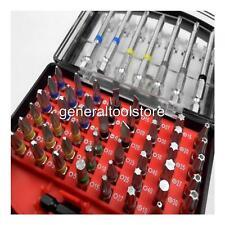 56 Piezas Crv pedacito de destornillador Set y titular Color Codificado Pz POZI Torx Ph Gb10