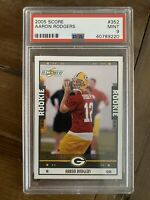 2005 SCORE GLOSSY #352 AARON RODGERS GREEN BAY PACKERS ROOKIE PSA 9