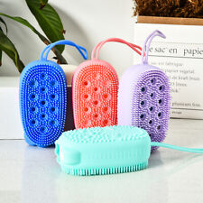 Bath Shower Loofah Silicone Brush Body Scrubber  Skin Cleaning Spa Bath Massager