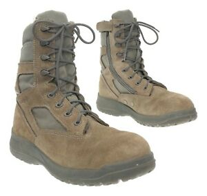 BELLEVILLE COMBAT Boots 9.5 R Mens #610Z Green Weather Suede Military Boots USA
