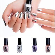 6ml Metallic Nail Polish Mirror Effect  Varnish Silver Rose Gold