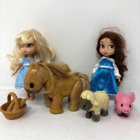 "Disney Princess Animator Mini Dolls Belle & Cinderella  5"""