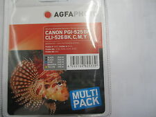 AGFA PHOTO CANON 5-SET PGI-525 bk + CLI-526 C Y M Bk  Pixma MX-885 iX6520 iP4850