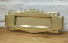 More details for art deco refurbished vintage brass letter box (ready to fit)