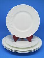 222 Fifth Romance Dinner Plates Embossed  Flower Set of 3 Bonus 2 salad plates