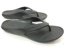 NEW Iconic CROCS Comfort Sandals Black Flat Mens 5/6 Womens 7/8 Thongs Flip Flop
