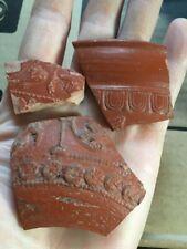 Roma Antigua Samian Ware fragmentos de cerámica terra sigilatta