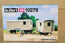 KIBRI 10278 HO SCALE DB KLEUSBERG ROAD REPAIR TRACK SIDE WORKER CARAVAN KIT